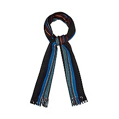 Red Herring - Dark grey fine multi striped scarf
