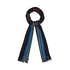Red Herring - Dark grey fine multi striped scarf