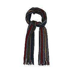 Red Herring - Grey variegated stripe brushed scarf