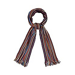 Red Herring - Blue fine multi striped scarf