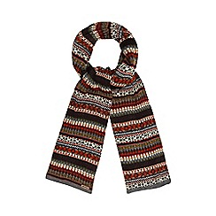Mantaray - Orange Fair Isle knit scarf