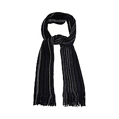 Jeff Banks - Navy striped scarf