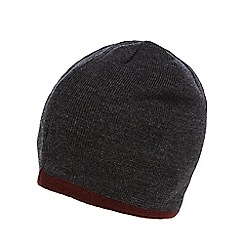 Red Herring - Grey tipped reversible beanie hat