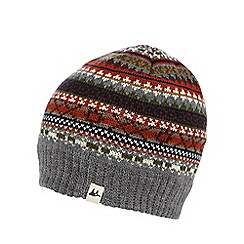 Mantaray - Grey Fair Isle beanie hat