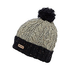 Mantaray - Grey cable knit beanie hat