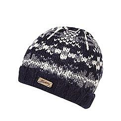 Mantaray - Navy chunky Nordic knit beanie hat