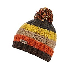 Mantaray - Khaki striped beanie hat