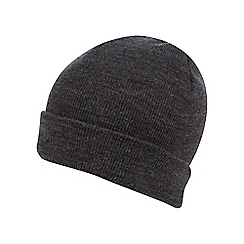 The Collection - Grey plain beanie hat