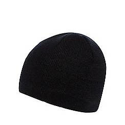 The Collection - Black fleece lined beanie hat
