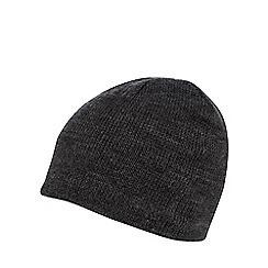 The Collection - Dark grey fleece lined beanie hat
