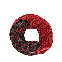 Red Herring - Grey two-tone plaited snood