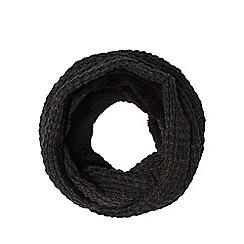 Red Herring - Dark grey borg fleece lined snood