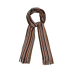 Mantaray - Brown fine striped scarf