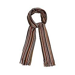 Mantaray - Brown fine striped scarf