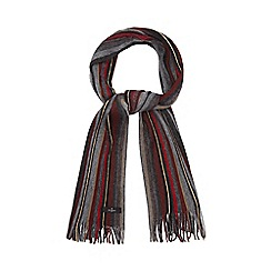 Jeff Banks - Grey variegated stripe scarf