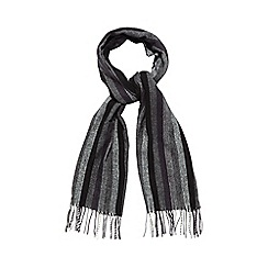 Jeff Banks - Black diagonal block striped scarf