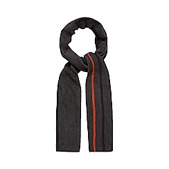 Jeff Banks - Dark grey striped reversible scarf