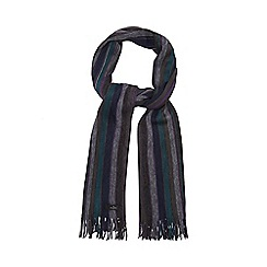 Jeff Banks - Grey vertical striped scarf