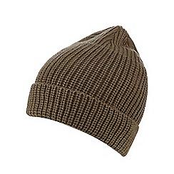 Red Herring - Khaki chunky knit beanie hat
