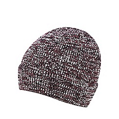 Red Herring - Burgundy mixed yarn beanie hat
