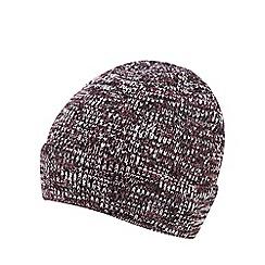 Red Herring - Burgundy mixed yarn beanie hat