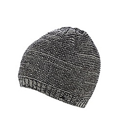 Mantaray - Grey textured beanie hat