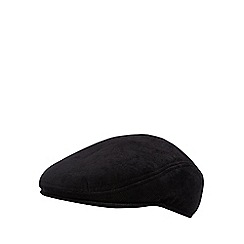 The Collection - Black cord flat cap