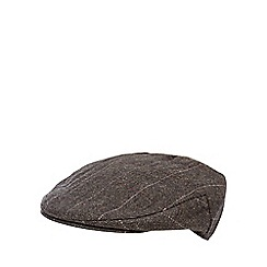 RJR.John Rocha - Brown herringbone checked flat cap