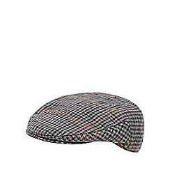 RJR.John Rocha - Black dogtooth flat cap