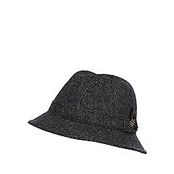 RJR.John Rocha - Designer grey herringbone trilby hat