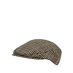 RJR.John Rocha - Designer light brown wool blend tweed flat cap