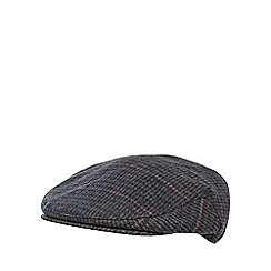 RJR.John Rocha - Green checked wool blend flat cap