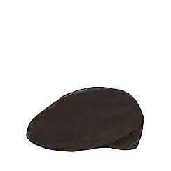 RJR.John Rocha - Dark green waxed flat cap