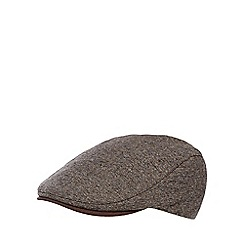 RJR.John Rocha - Brown mini herringbone flat cap