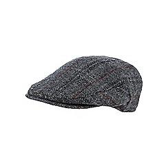 RJR.John Rocha - Grey checked Harris Tweed wool flat cap