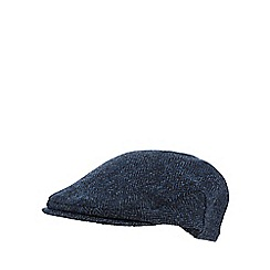 RJR.John Rocha - Blue herringbone Harris Tweed flat cap
