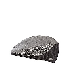 J by Jasper Conran - Grey dogtooth panelled flat cap