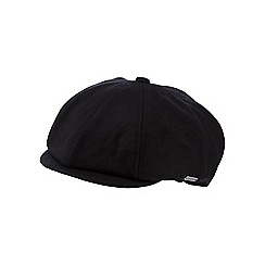 J by Jasper Conran - Black heavy melton baker boy cap