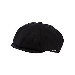 J by Jasper Conran - Black heavy melton baker boy cap
