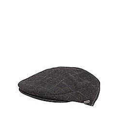 J by Jasper Conran - Grey windowpane checked wool blend flat cap