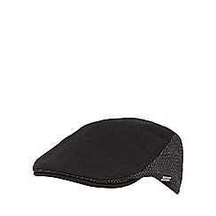 J by Jasper Conran - Black spotted panel wool blend flat cap