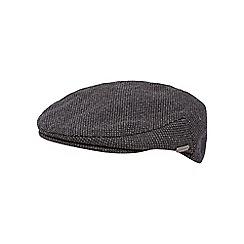 J by Jasper Conran - Dark grey micro spot flat cap