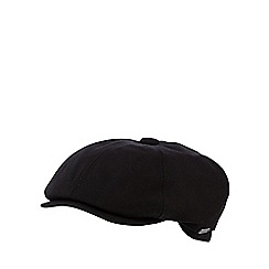 J by Jasper Conran - Black heavy canvas baker boy cap