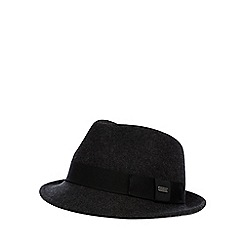 J by Jasper Conran - Designer dark grey wool trilby