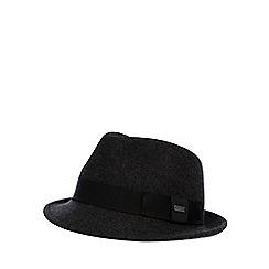 J by Jasper Conran - Designer dark grey wool trilby