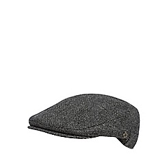 Jeff Banks - Designer grey wool blend salt and pepper flat cap