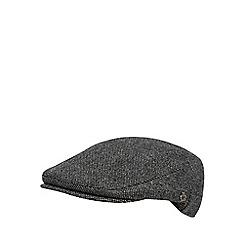 Jeff Banks - Designer grey wool blend salt and pepper flat cap