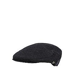 Jeff Banks - Designer grey wool blend quilted flat cap