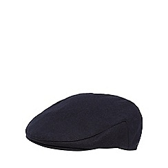 Hammond & Co. by Patrick Grant - Navy melton flat cap