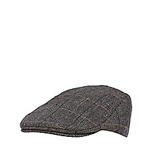Hammond & Co. by Patrick Grant - Grey herringbone checked flat cap